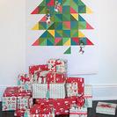 Árbol de Navidad de papel y colores