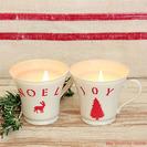 Velas caseras para decorar la Navidad