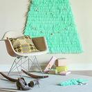 Árbol de Navidad de pared con papel tisú