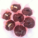 Receta de muffins doble chocolate