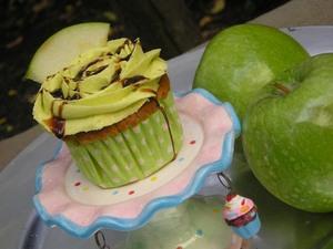 Cupcakes de Manzana Verde y Caramelo