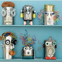 Manualidades para hacer con Niños: Robots Reciclados