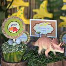 Fiesta de cumpleaños de dinosaurios