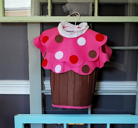 Disfraz casero de cupcake para niñas