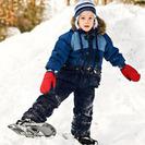 Raquetas de nieve con niños