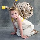 Disfraz casero de caracol para niñas