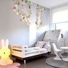 Decorar con árboles las paredes infantiles