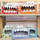 Monstruos de papel con cajas recicladas