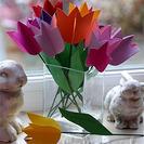 Tulipanes de papel para hacer con niños