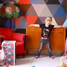 Dormitorios infantiles decorados con triángulos