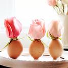 Mini macetas originales con cáscaras de huevo