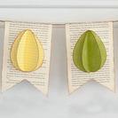 Guirnalda de papel para decorar la Pascua