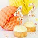 Cake toppers con números para fiestas de cumpleaños