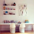 Un nuevo escritorio para hacer los deberes y pintar