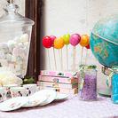 Soportes vintage para cake pops y macarons