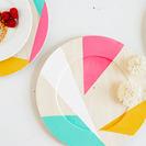 Platos de madera personalizados para hacer con niños