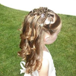 Peinado para Niña:  Semi Recogido, Bucles y Más