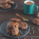 Cookies de chocolate, nutella y caramelo