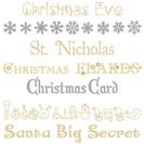 tipos de fuentes de navidad:
