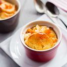 Pudin de pan y mantequilla con naranja