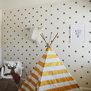 Decorar paredes con Washi Tape y Polka Dots