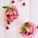 Limonada rosa de frambuesa