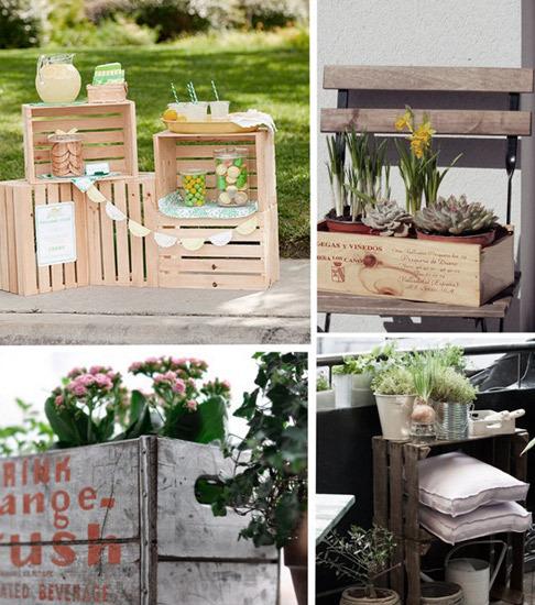 Muebles DIY con cajas de madera  Tu casa y tu jardín  Mujer Moda