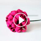 Manualidades en vídeo: Cómo hacer una diadema con una flor de fieltro