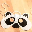 Manualidades en vídeo: Cómo hacer una Máscara de oso panda con cartulina