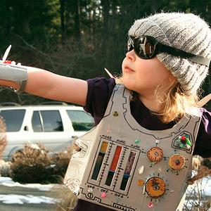 Robot sideral!! Disfraces caseros reciclado.