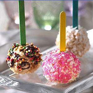Chupa Chups de cereales para meriendas y fiestas