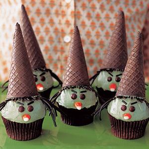 Recetas para Halloween. Cupcakes de Brujas