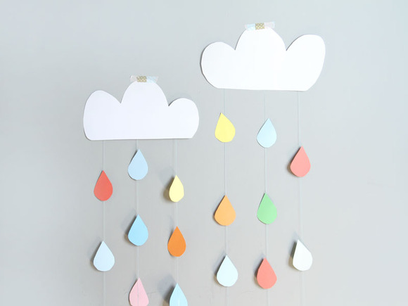 Manualidades con cartulina: cortina de nube