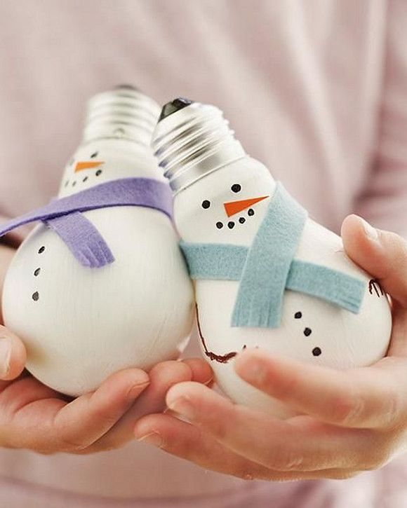 Adornos caseros para el arbol de  Navidad