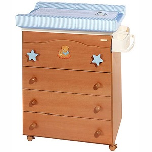 Comoda ba era color miel con cambiador madrid 80 venta for Muebles bebe barcelona