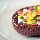 Receta rápida de brownie de chocolate con nutella