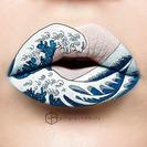 Una maquilladora convierte sus labios en verdaderas obras de arte