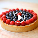 Receta rápida de tarta de frutos del bosque