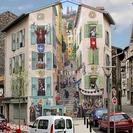 Un artista francés transforma edificios aburridos en escenas llenas de energía