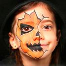 Maquillaje de calabaza terrorífica