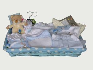 Regalos para bebés recien nacidos, tarta de pañales, cestas, roscas.