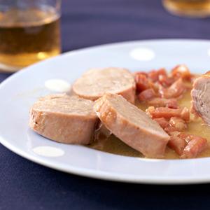 Recetas para Navidad. Solomillo de cerdo en salsa de manzana