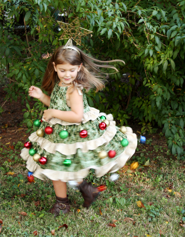 Vestido árbol de Navidad
