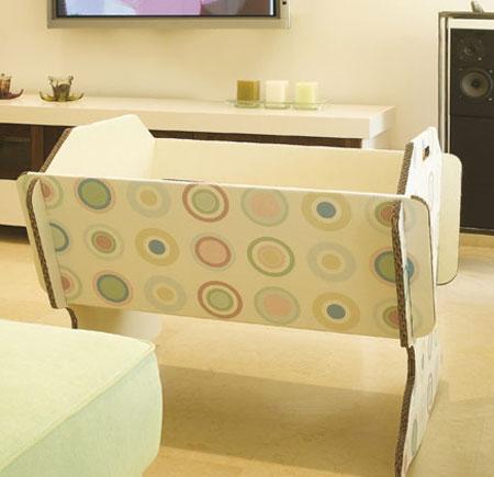 Cuna de carton para baby shower - Imagui