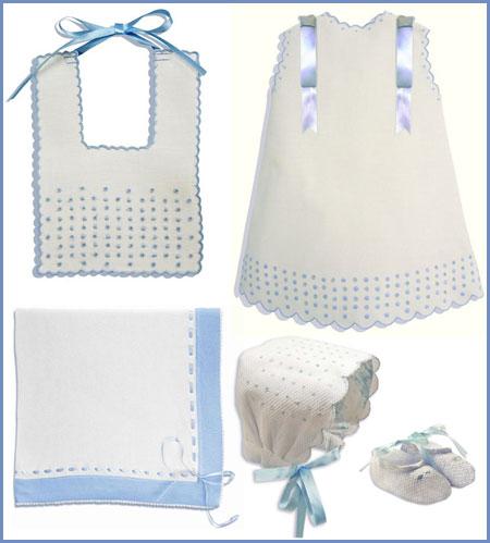 Ropita de hilo, algodón y piqué para bebés. Bordados para el hogar ...