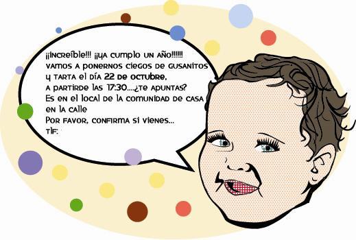 """Invitaciones de cumpleaños personalizadas de """"Maria te Pinta ..."""