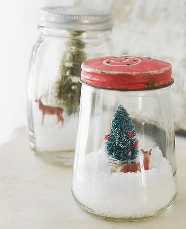Tarritos de cristal navideños