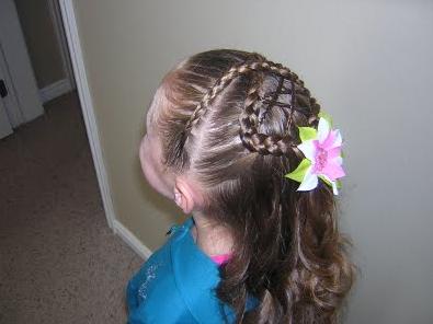 Primera Comunión 2010. Peinados de Niñas: Semirecogido de Trenzas