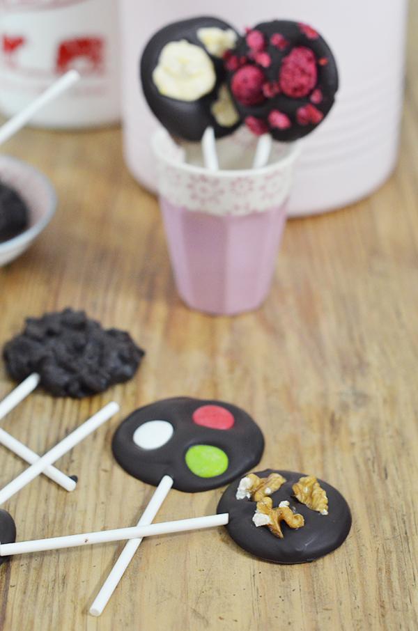 Baño Sencillo De Chocolate:Piruletas de chocolates – Cocinar con niños – Recetas de cocina