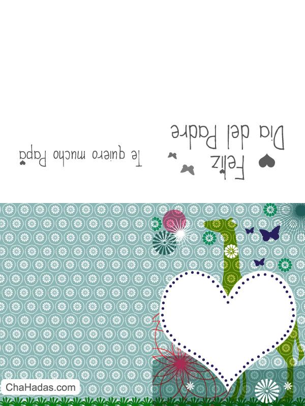 tarjetas de felicitacion dia de padre para imprimir y colorear